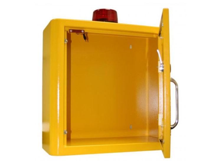 Yellow Indoor Locked Cabinet