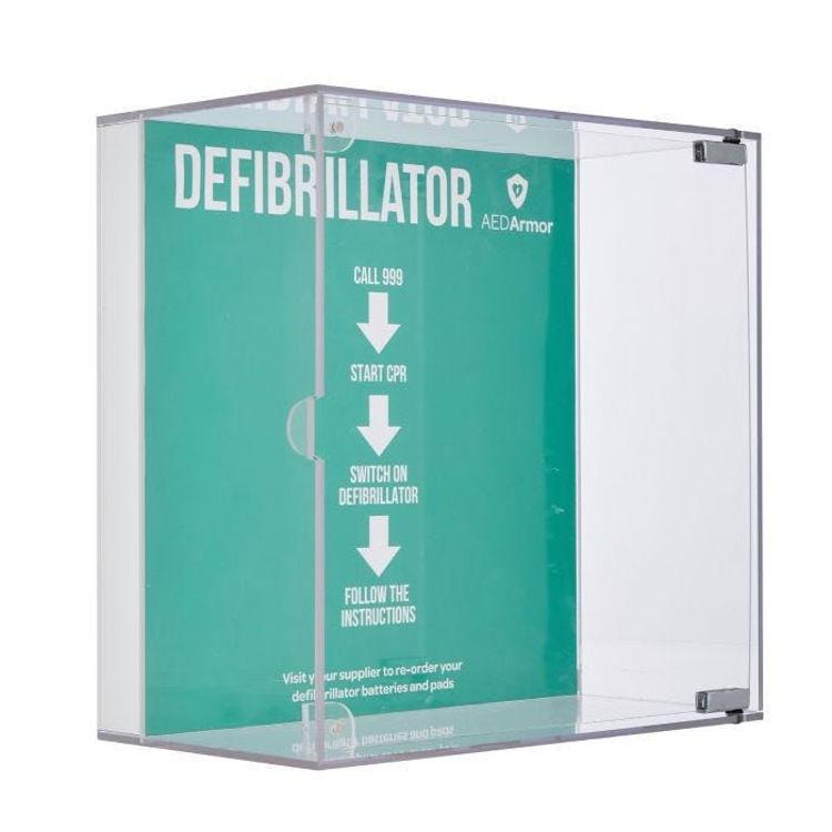 AED armor perspex cabinet