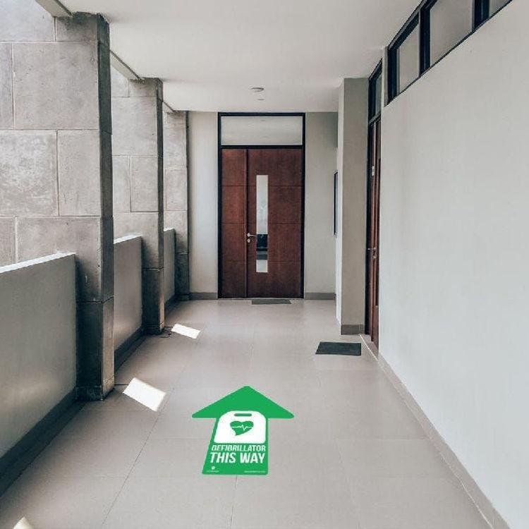 AED Armor Floor Sticker