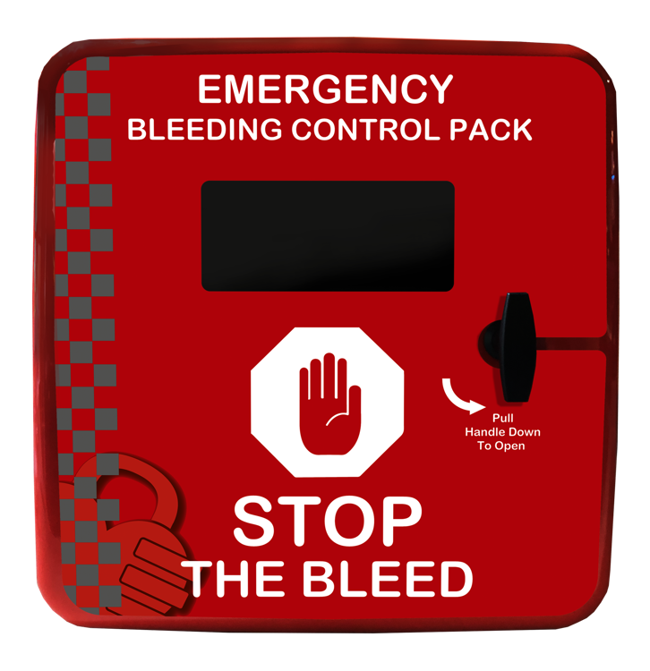 Red emergency control the bleed cabinet