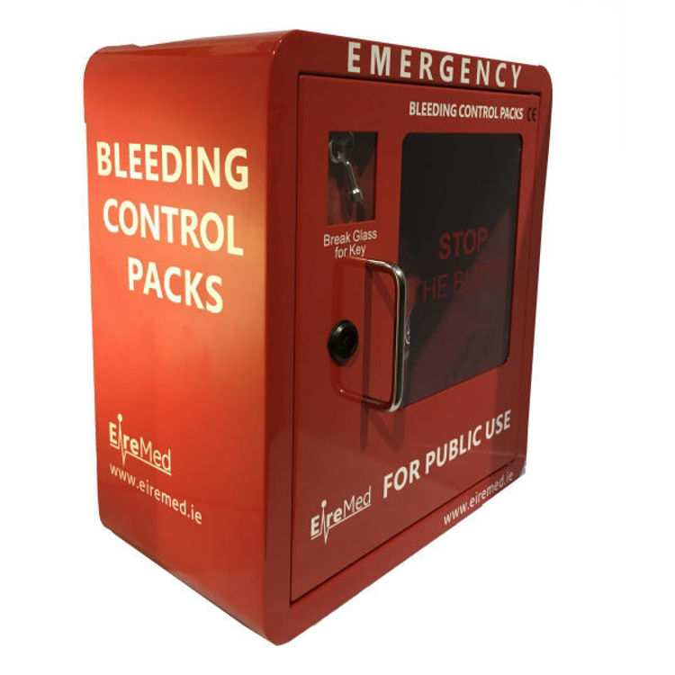 Red Bleeding Control Cabinet Box