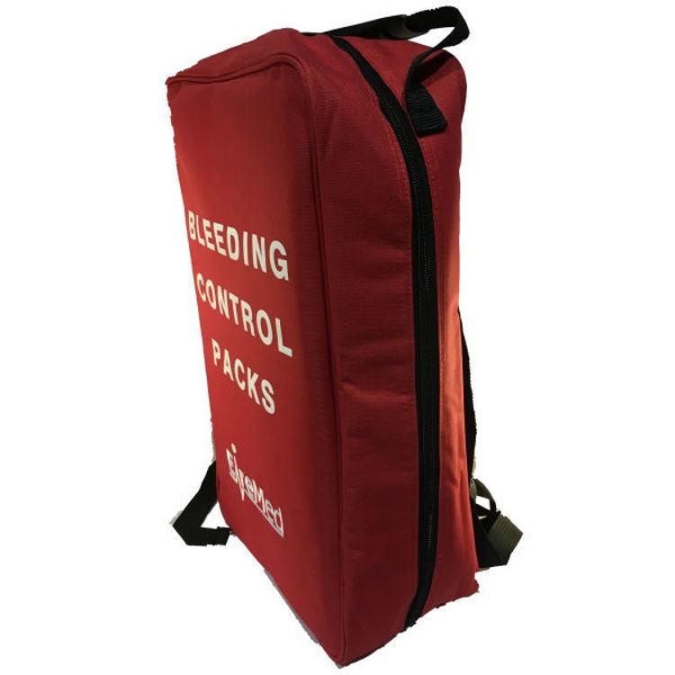 Red Bleed Control Backpack Side