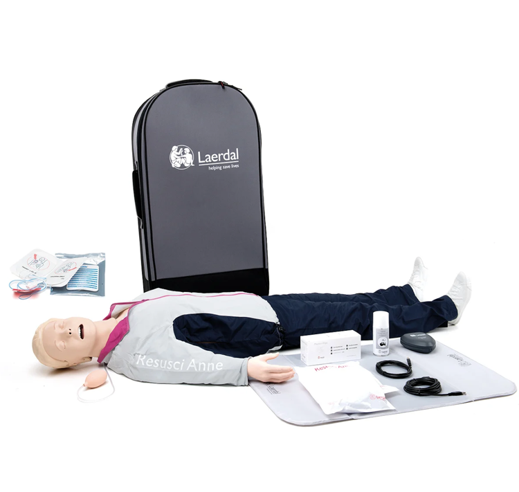 Laerdal Resusci® Anne QCPR AED Training Manikin Full Body with Airway Head