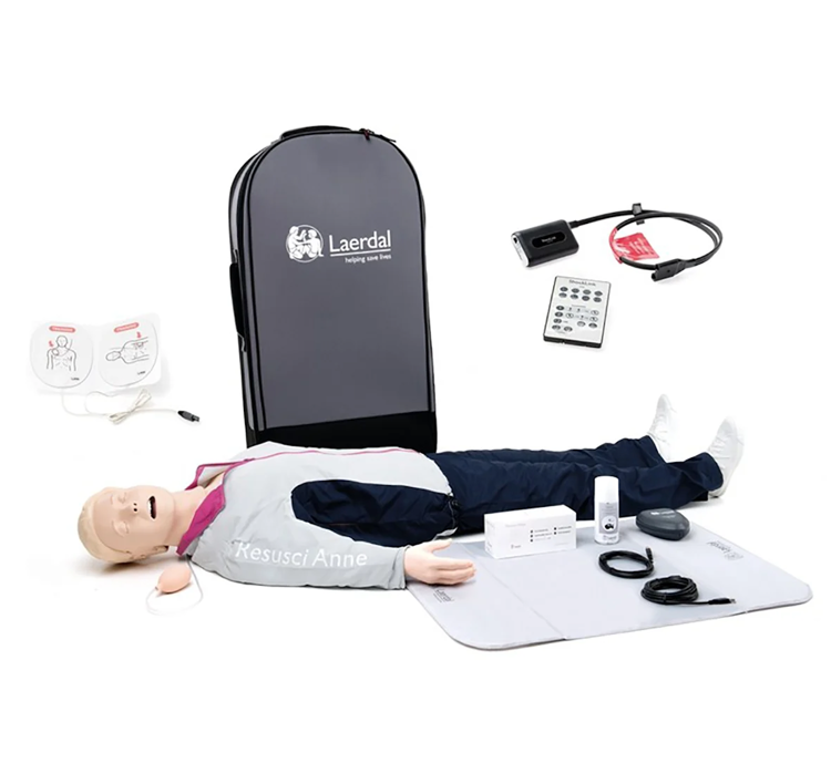 Laerdal Resusci® Anne QCPR AED Training Manikin Full Body with Airway Head and ShockLink