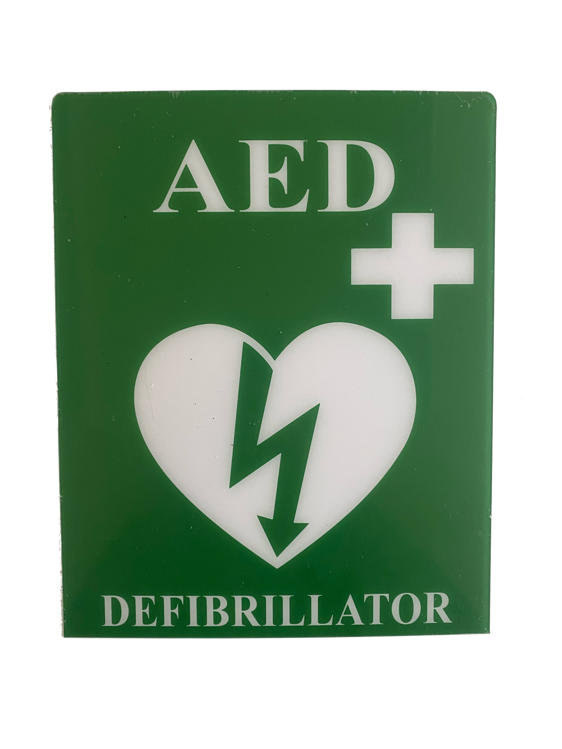 Defibrillator PVC Self Adhesive Sign