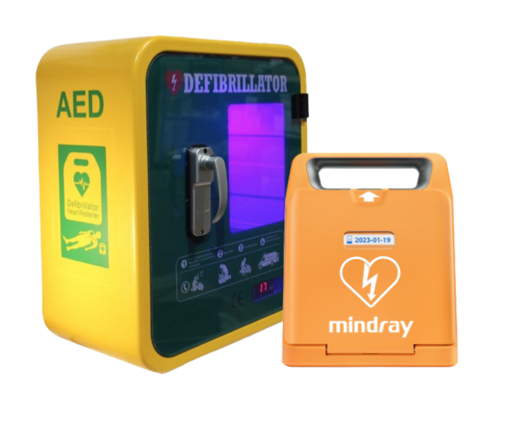 Mindray C1A Defibrillator & Unlocked Outdoor Cabinet Package