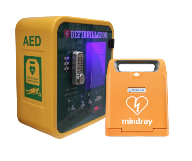 Mindray C1A Defibrillator & Locked Outdoor Cabinet Package