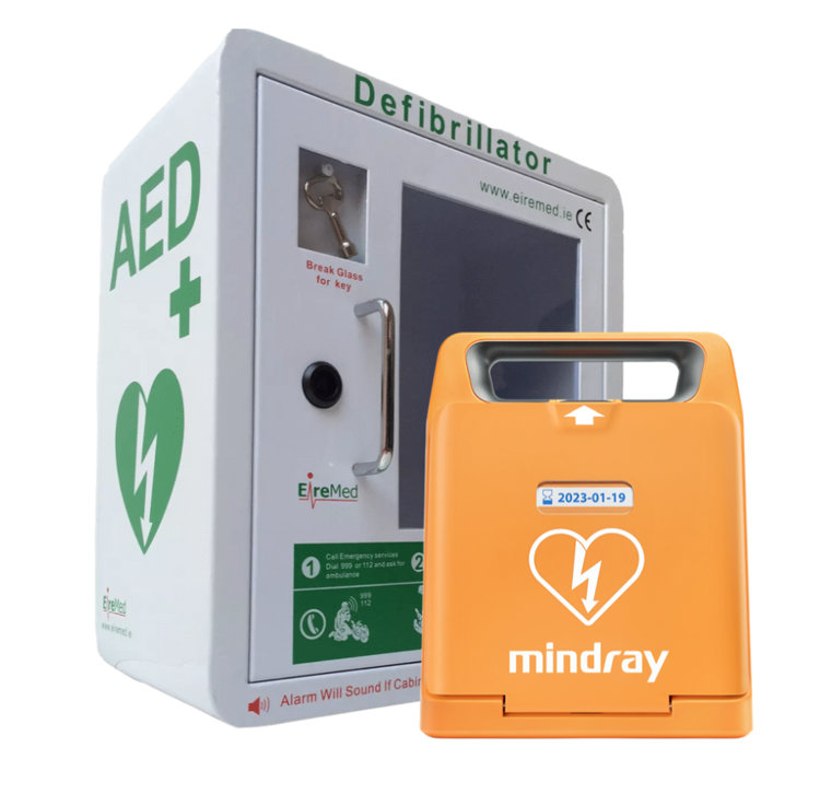 Mindray C1A Defibrillator & Locked Indoor Cabinet Package