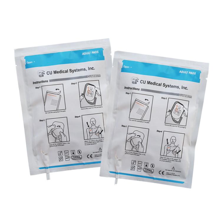 CU Medical Systems iPAD NF1200 Adult Electrode Pads - 2 Pack Bundle
