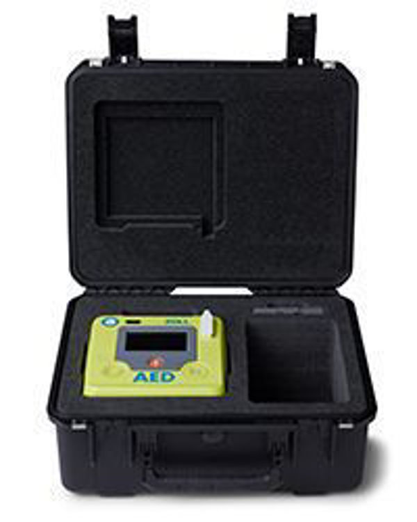 Large Rigid Plastic Case For ZOLL AED 3 Open